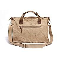 Vagabond Traveler Canvas Casual Messenger Bag (Khaki) by Vagabond Traveler