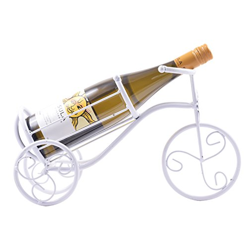SRI Creative Vintage Bicycle White Metal Wine Bottle Holder/ Wine Rack