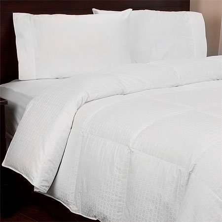 300TC Cotton White Down Comforter , Full/Queen