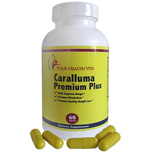 Caralluma Premium Plus With Forskolin, Garcinia Cambogia, Green Coffee Bean, Raspberry Ketones, Moringa, African Mango, White Kidney Bean, & Green Tea For Weight Loss Hunger Appetite Suppressant