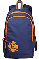 F Gear Castle Rugged Base 27 Liters Navy Blue Orange Backpack