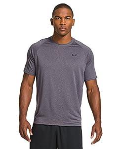 Men's UA TechTM Shortsleeve T-Shirt Tops by Under Armour Large Carbon Heather black Large