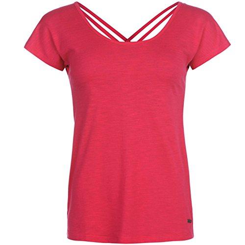 Lee Cooper -  T-shirt - Donna rosa Medium