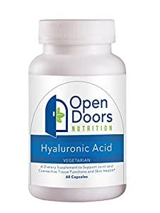 Vegetarian Hyaluronic Acid with Sunflower Lecithin and Salvia Hispanica (Seed) Powder - 40mg Low Molecular Weight HyamaxTM Brand Sodium Hyaluronate - 60 Capsules - 100% Money Back Guarantee