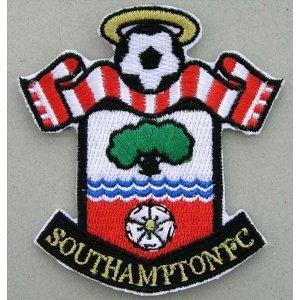 southampton fc football crest iron on patch 3 7 5cm st marys logo