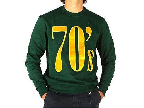 Elevenparis, Uomo, Desand Sweat Bistro Green 70s, Cotone, Felpe, Verde, XL EU