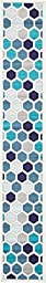Modern Abstract Geometric 2 feet by 13 feet (2\' x 13\') Runner Metro Cream Contemporary Area Rug