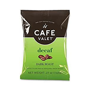 Cafe Valet Coffee for Cafe Valet Single Serve Brewers, Decaffeinated, 84 Count