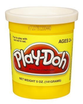 Play-Doh PlayDoh Single Can -White 23845 - 1