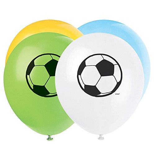Lot de 8 Ballons Foot - Anniversaire Enfant - Goûter enfant