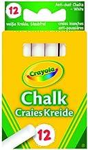 Comprar Crayola 0280 - 12 Tizas Blancas Antipolvo