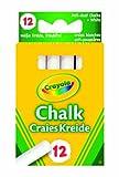 Crayola 0280 - 12 Tizas Blancas Antipolvo