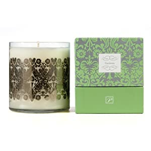 Paddywax Luxe 20-Ounce Poured Glass Candle, Gardenia