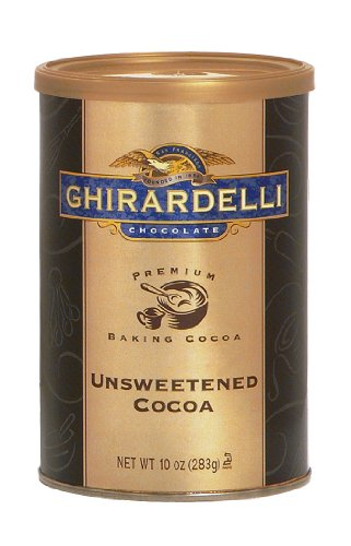Ghirardelli Chocolate Premium Baking Cocoa, Unsweetened Cocoa, 10-Ounce Canisters (Pack of 6)