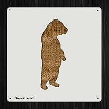 Bear Standing Style 724 DIY Plastic Stencil Acrylic Mylar Reusable