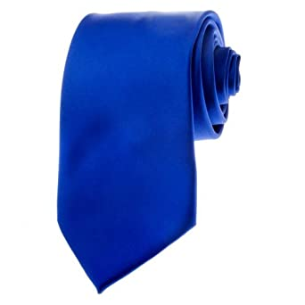 BRAND NEW Solid Color Men's Neck Tie Satin Finish Romario