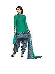 Madd Fluence Women's Cotton Unstitched Dress Material_07_Multicolored_Freesize