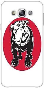 Snoogg bulldog mongrel dog front view Hard Back Case Cover Shield ForSamsung Galaxy E5
