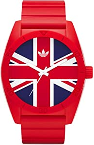 Adidas Santiago Union Jack ADH9034 40mm Resin Case Red Resin Mineral Men's & Women's Watch