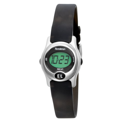 Armitron Women's 45/6962SIL Instalite Black Digital Sport Watch
