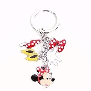 Minnie Mouse Metal Keyring Key Ring Chain Charm: Amazon.co.uk: Toys