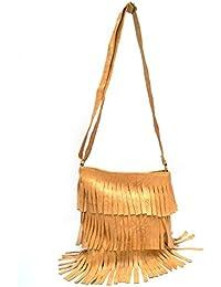 Vintage Stylish Ladies Sling Bag-Cross Body Bag Mustard Color(bag 285)
