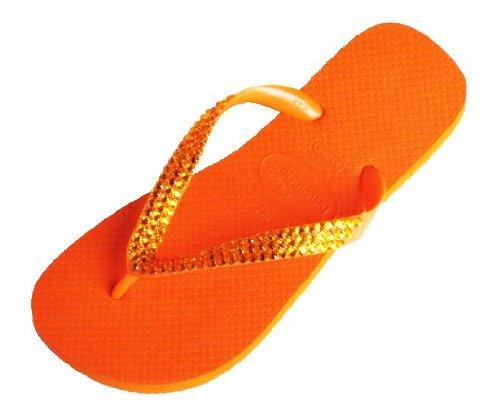 Cheap ORANGE SUN Swarovski Crystal Havaianas Flip Flops Sandals Thongs sizes 5-11 (B002HEUWZK)