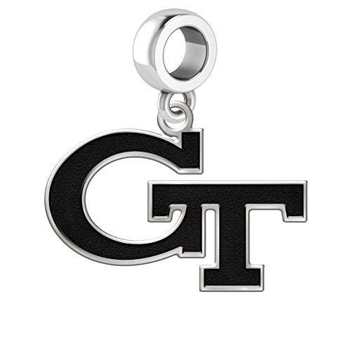 Georgia Tech Yellow Jackets Logo Dangle Charm Fits All European Style Charm Bracelets.