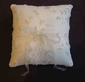 Kirsten Silk Chiffon Beaded Ring Bearer Pillow