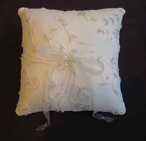 Kirsten Silk Chiffon Beaded Ring Bearer Pillow