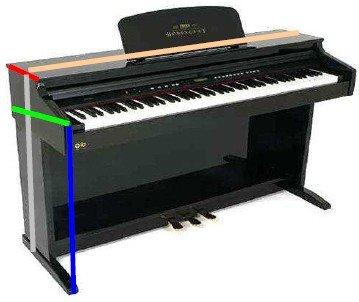 Ortola-Funda-Piano-Digital-Yamaha-Cvp-508-CVelcro-10Mm-Negro