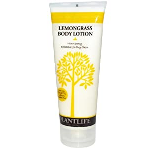 Lemongrass Body Lotion (8 oz) Made with organic ingredients & 100% pure essential oils
