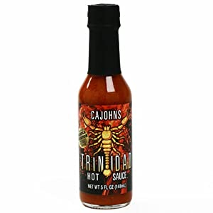 Trinidad Moruga Scorpion Hot Sauce 5 Ounce by CaJohns