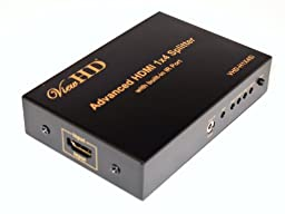 ViewHD HDMI 1x4 Splitter with IR Extender Function | Support 1080P & 3D | VHD-H1X4Si