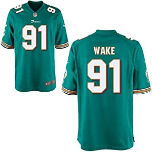 Miami Dolphins Cameron Wake #91 NFL Youth Game Jersey, Aqua Green by Nike