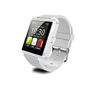 New Model Touch Screen Bluetooth Smart Watch WristWatch Wrist Wrap Watch Phone Mate Handsfree For IOS S4 Android iphone 4/4S/5/5C/5S Samsung S2/S3/S4/Note 2/Note 3 Cell Phone U8 (White)