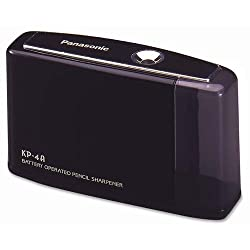 Panasonic KP4A-BK Kp-4a battery pencil sharpener, black, 1 Unit