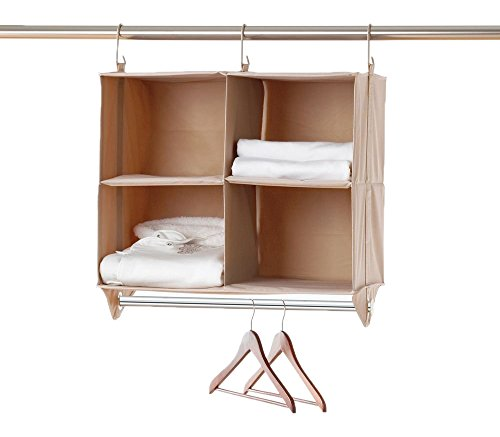 neatfreak 5610-ST ClosetMAX Storage Organizer 4 Shelves with Cloths Hanging Bar (Neatfreak Closet Organizer compare prices)