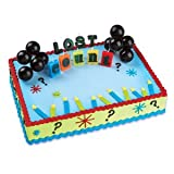 Oasis Supply Cupcake/Cake Lost Count Birthday Cake with 2 Black Balloons and Candles Spelling Out Lost Count, 2-Inch