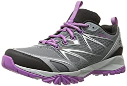 Merrell Women\'s Capra Bolt Hiking Shoe, Grey/Purple, 9 M US
