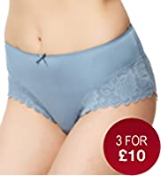 Lace Trim Midi Knickers