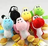 6 PC Super Mario Bros Brothers Yoshi 5&quot; Doll Plush New KTWJ154