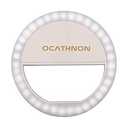 Ocathnon OC-SP00242 Selfie Ring Light for Most IOS/ Android/ BlackBerry/ Windows/ Smartphones