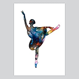 Ballet Dancer Watercolor Art Print, 11 x 14 inches