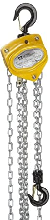 OZ Lifting Hand Chain Hoist, Overload Protection, Hook Mount