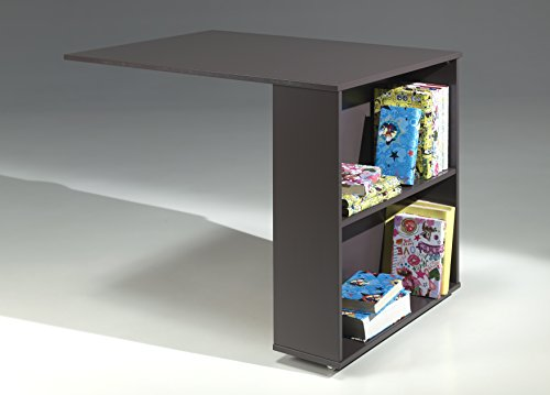 Vipack PICOHSBUBI15 Pino Lit Mezzanine avec Bureau et Bibliothèque Pin Massif Taupe