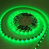 LEDwholesalers Flexible Lighting Strip 300 SMD LED Ribbon 5 Meter or 16.4 Ft 12 volt Green, 2026GN