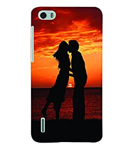 ColourCraft Valentine Love Couple Back Case Cover for HUAWEI HONOR 6