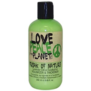 TIGI Love, Peace and The Planet Freak of Nature Volumizer/Thickener, Lavender Citrus Eucalyptus, 8.45 Ounce