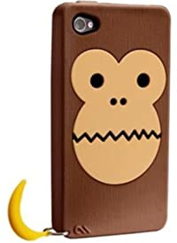 Case-Mate iPhone 4 CREATURES: Bubbles Monkey Case, Brown クリーチャーズ バブルス モンキー&バナナ シリコン ケース, ブラウン CM016353